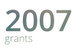 Grants awarded for 2007